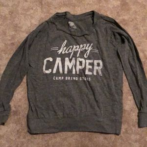 Happy Camper Grey sweatshirt Medium